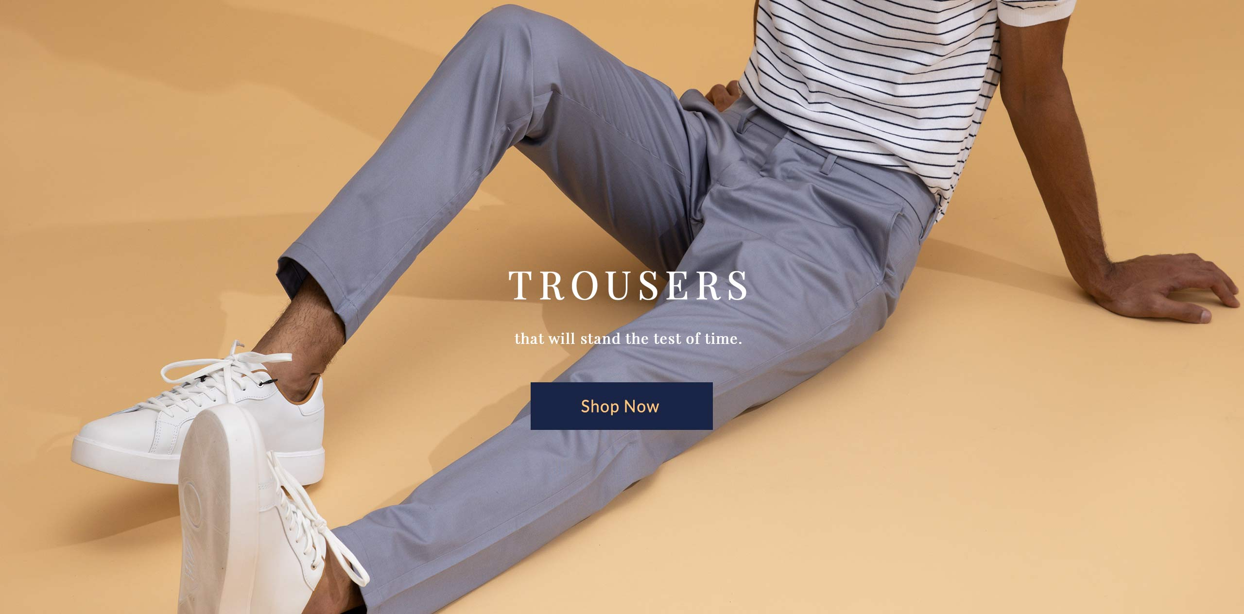Luxury Cotton Trousers for Men