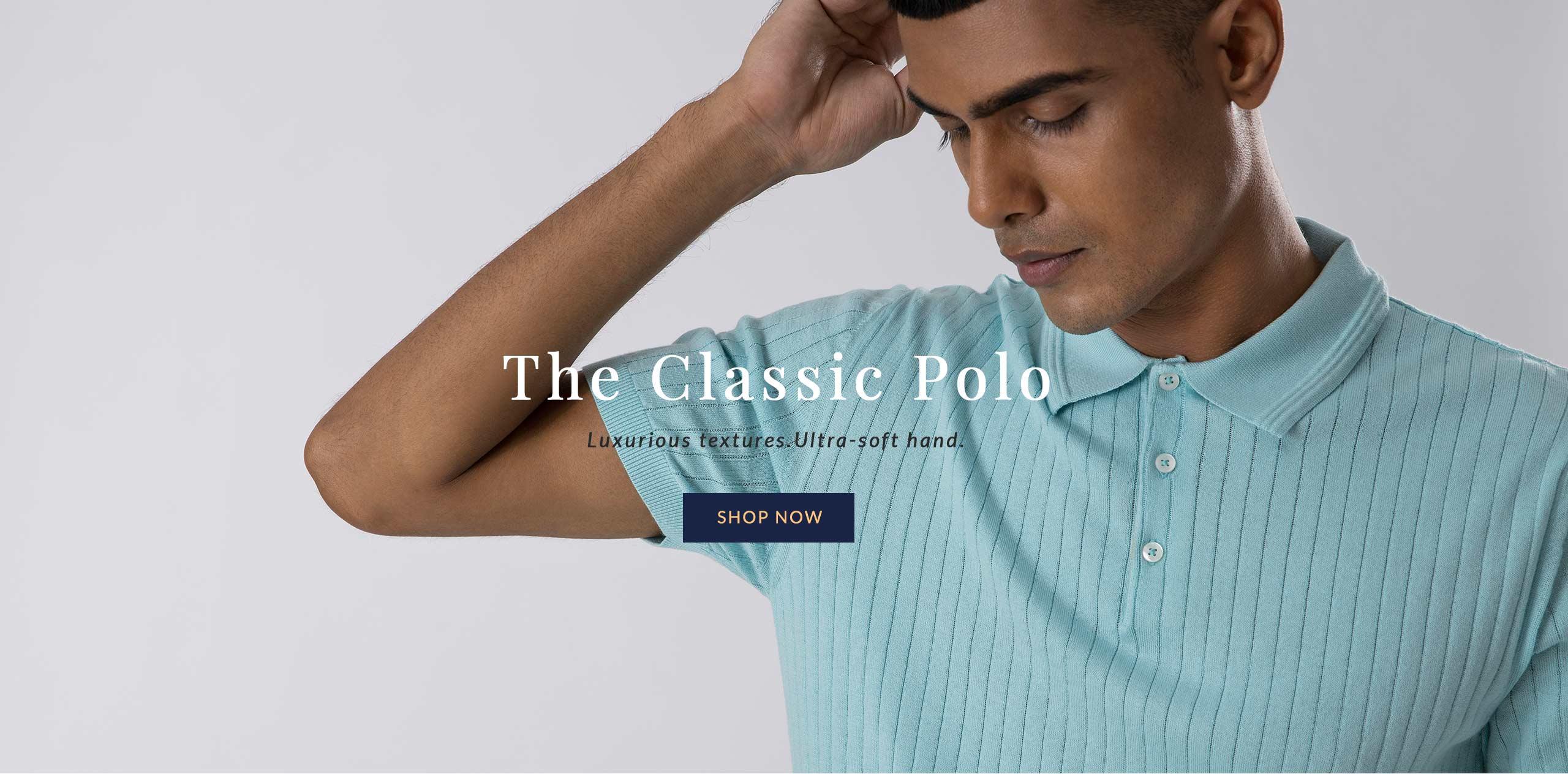 100% Supima Premium Polos for Men