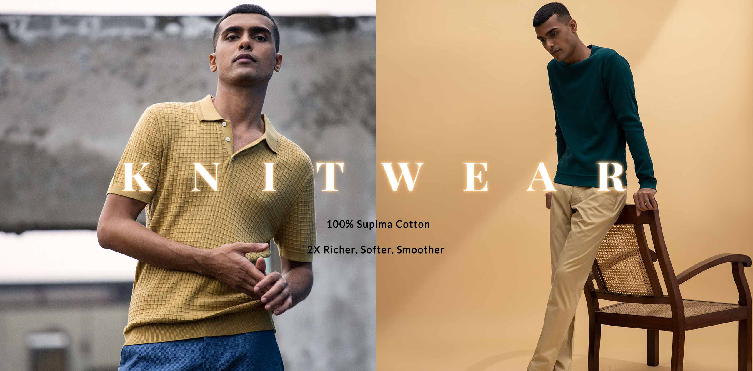 100% Supima Knitwear for Men
