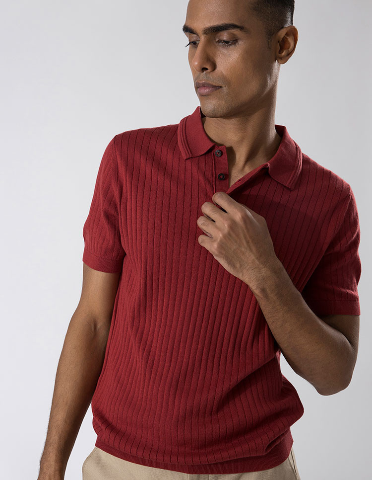 Red Striped Polo Category image