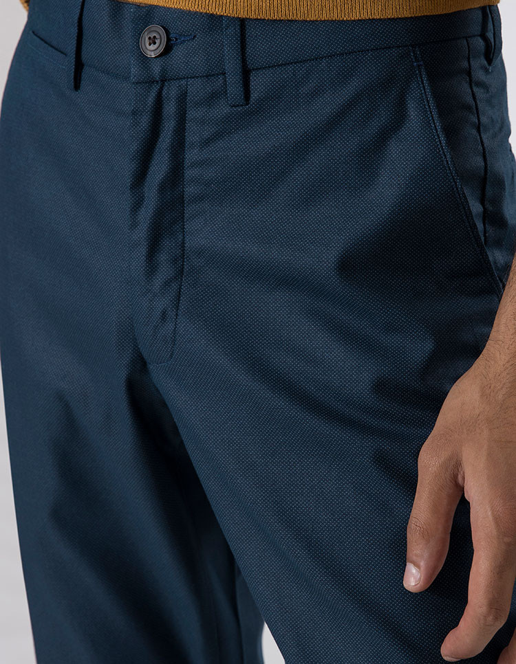 TEAL PATTERNED CHINOS